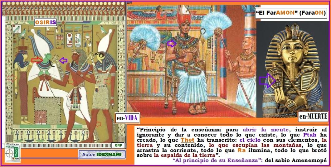 El DIOS SOLar - El FarAMON en su trono imortal - IDEXNAMI