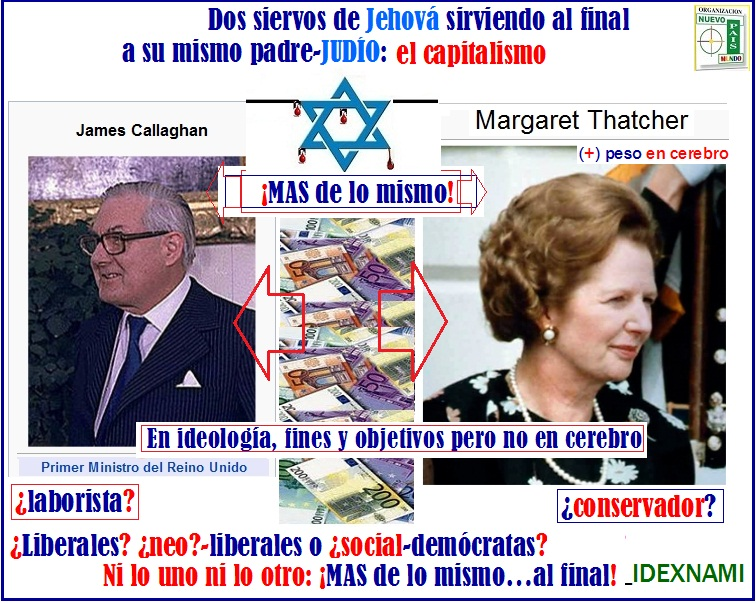James Callaghan - Margaret Thatcher - mas DE LO MISMO - IDEXNAMI