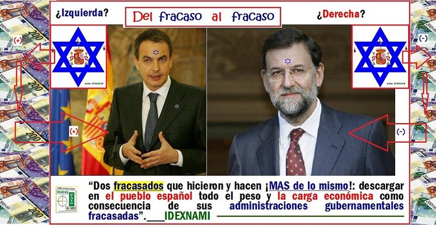 Zapatero - Rajoy - del fracaso al fracaso - IDEXNAMI