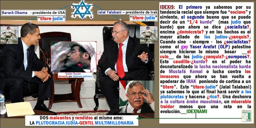 Barack Obama - JalalTalabani - DOS titeres judios - IDEXNAMI