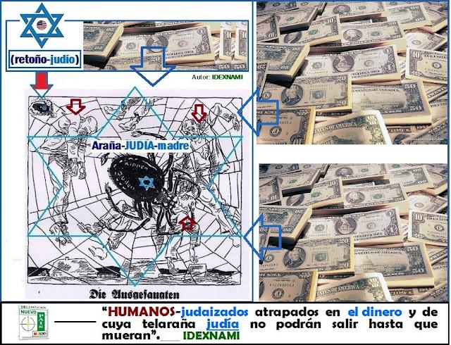 Humanos-atrapados-en-el-dinero-como-moscas-en-la-RED-la-araña-JUDIA-madre-IDEXNAMI
