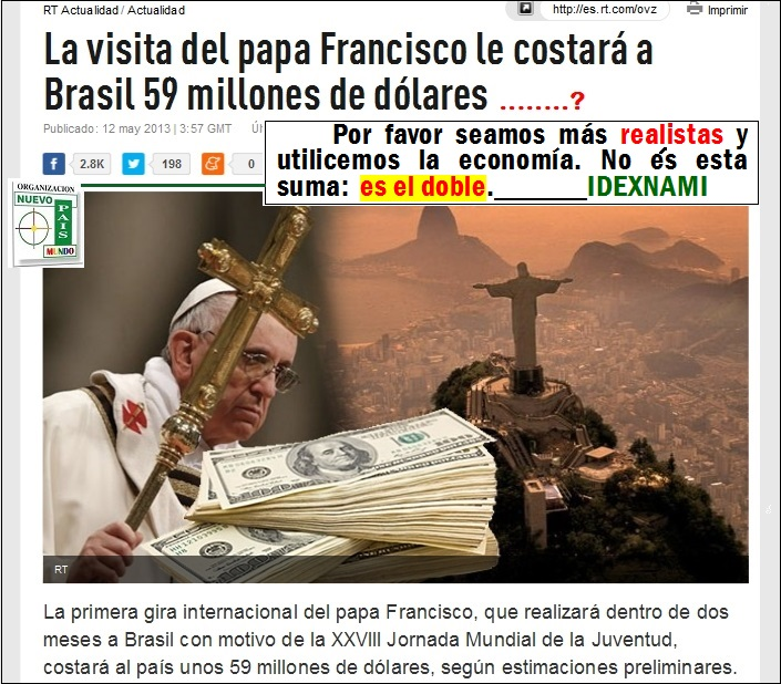 La_visita_del_papa_Francisco_le_costará_a_Brasil