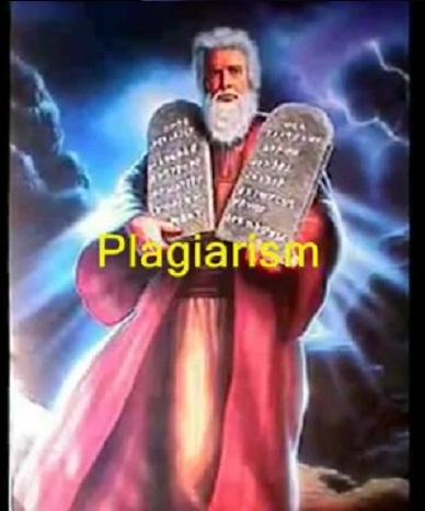 PLAGIO judaico - los dies mandamientos