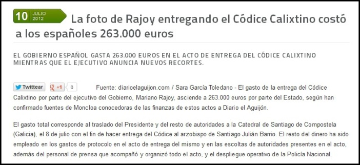 foto_de_rajoy_entregando_el_codice_calixtino_a-costa de los españoles