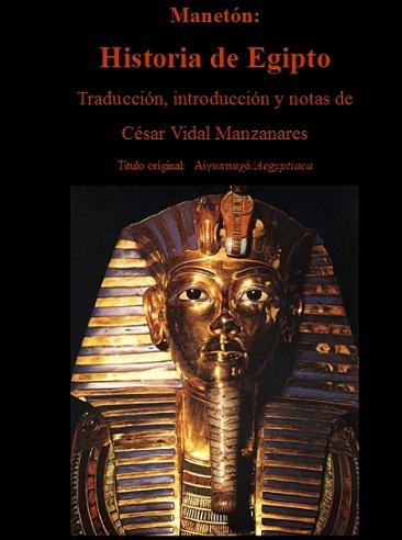 Manetón__Historia_de_Egipto - Cesar Vidal = PLAGIO