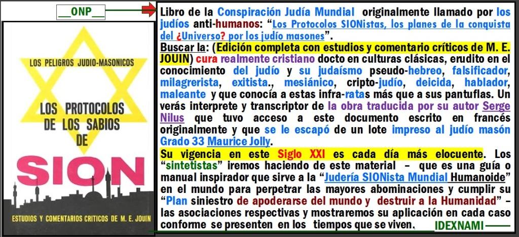 Libro los protocolos de los ¿Sabios de Sion- IDEXNAMI