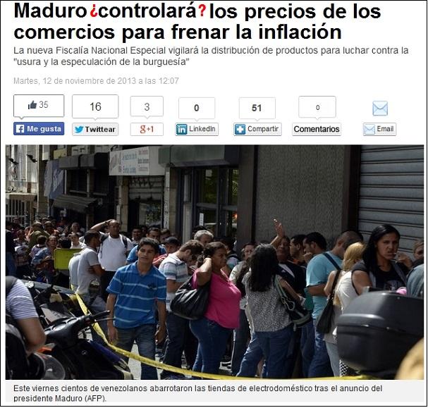 Maduro y su absurdo control de precios -a